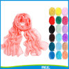 pure color desgin plain chiffon scarf