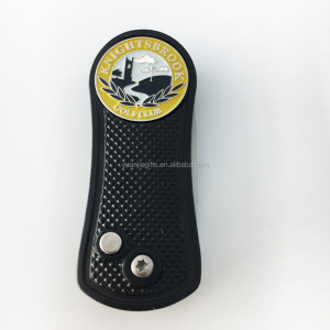 personalized brass divot tool with custom logo metal markers for golf