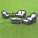round wicker outdoor synthetic rattan sleeper sofa in garden sofas HFA-010