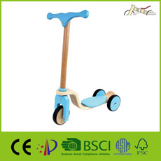 Wooden Kids Use 4 Wheels Baby Balance Walker Training Walking Wood Toy