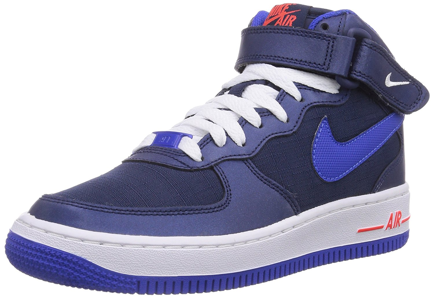 check out 2fcba 99dd6 NIKE YOUTH AIR FORCE 1 MID GS MIDNIGHT NAVY LYON BLUE WHITE CRIMSON 314195  412
