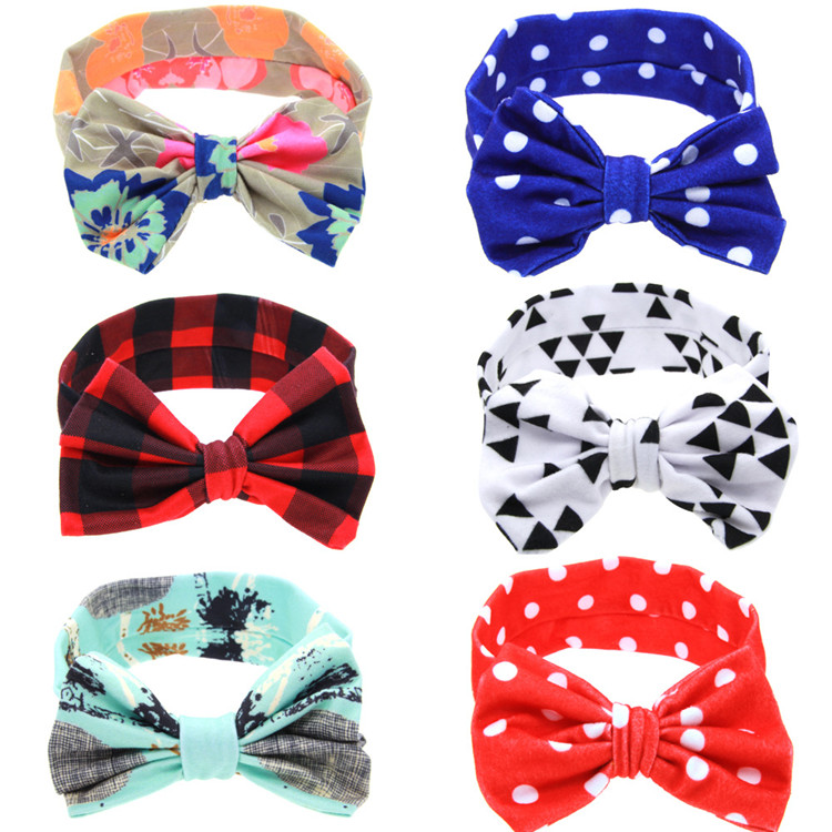 Baby Headband Bow DIY Rabbit Ears Elastic Hair Band for Girls Hair Accessories Photography Props