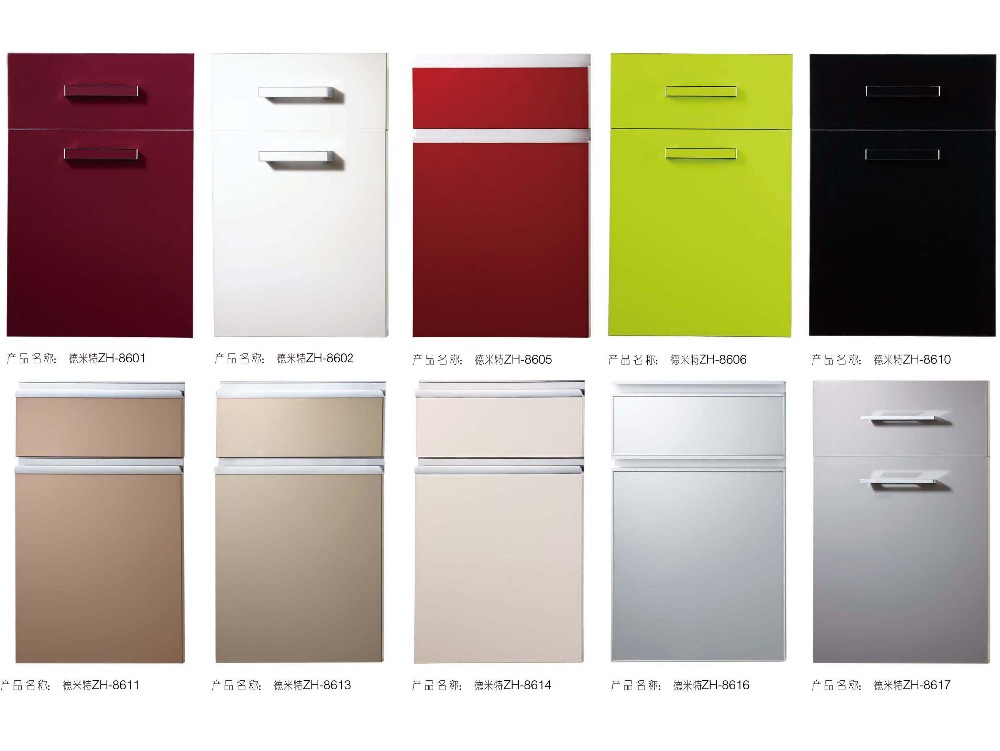 High Glossy Acrylic Kitchen Cabinet Shutter Doors With Pvc