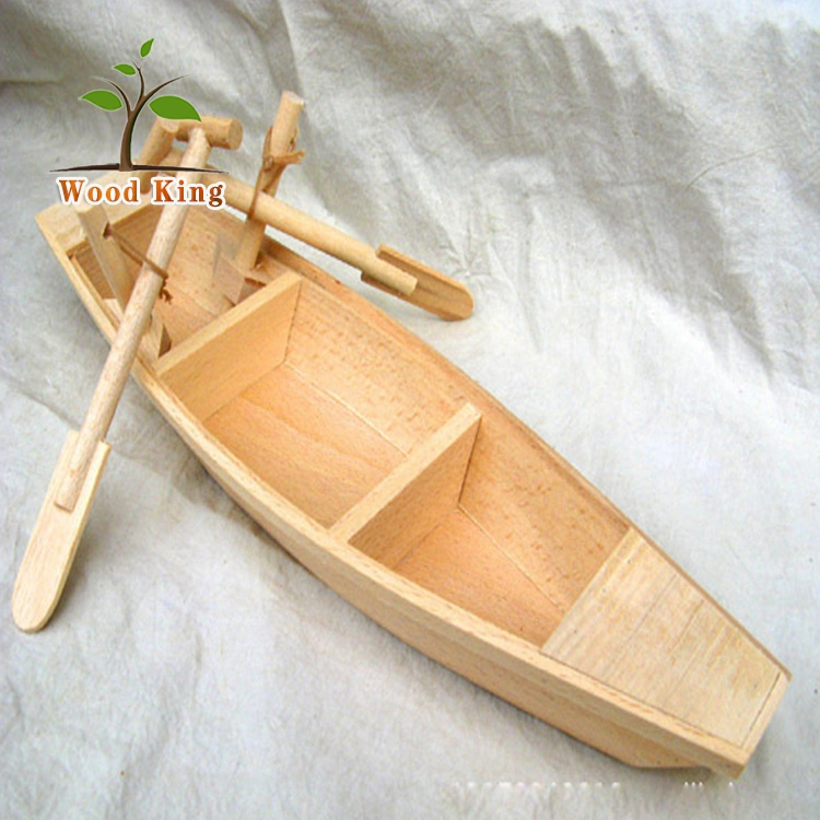 Beech Wood Grinding And Polishing Pendulums Wholesale Home Furnishings Model Ship Lift Chinese Mini Small Wooden Boat
