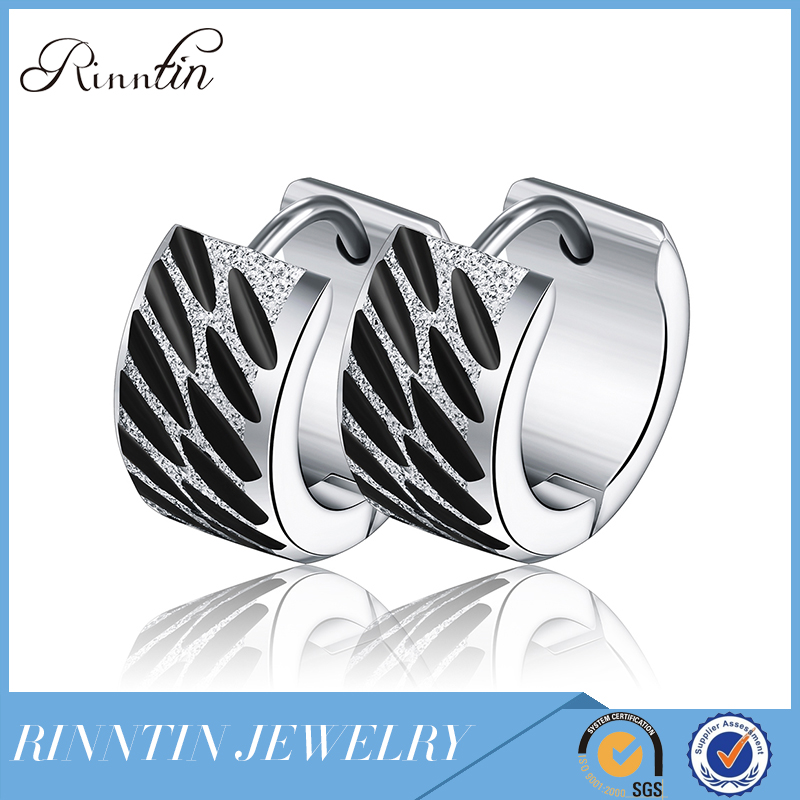 Rinntin High End Jewelry Stainless Steel Hypoallergenic Earrings Jewels Hoops for Man&Boys Nickel Free RIGTE29