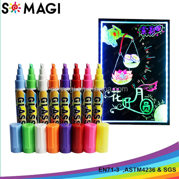 multi color dry erase glow in the dark chalk marker