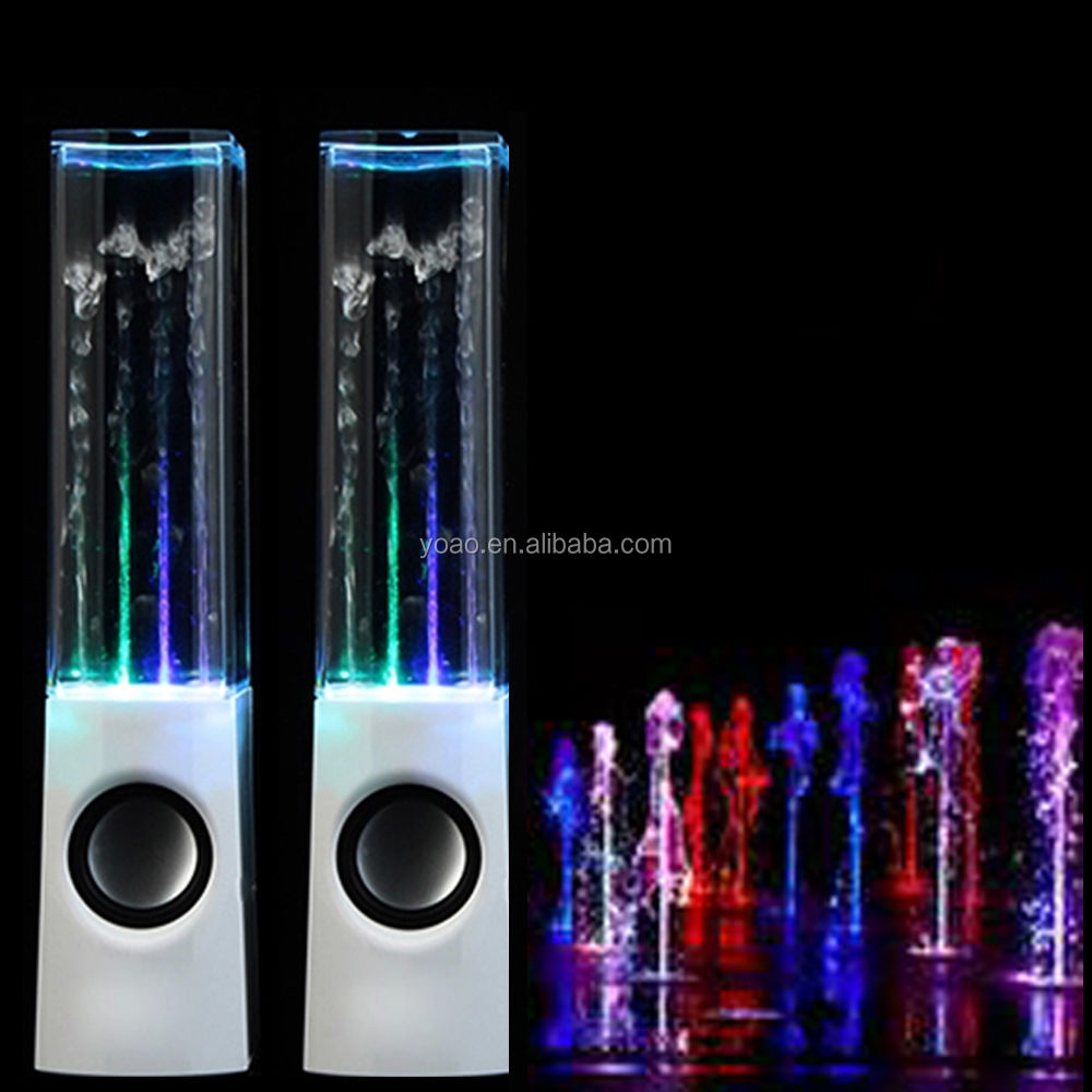 Home Decoration Gift Water Dancing Fountain <strong>Speaker</strong> with LED Color Light for PC Laptop MP3 Christmas