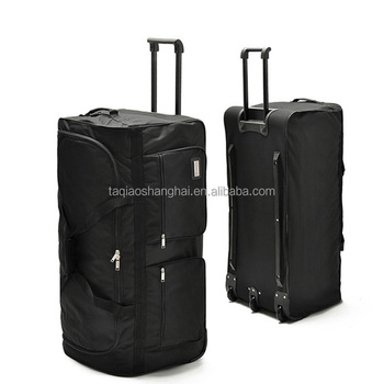 Hot sale men trolley duffel bag polyester luggage Travel Trolley Bag With Wheels