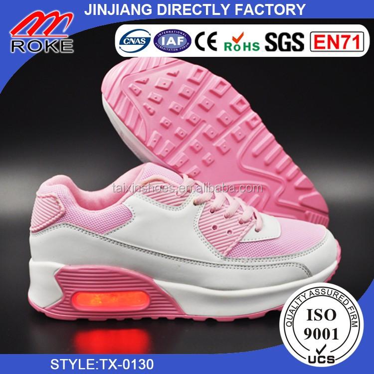 36a08ac3aa505 مدرسة المراهقات الأحذية حذاء الهواء الوحيد بنات موضة رياضة الجري المدربين  الصمام الخفيفة الأحذية المدرسية