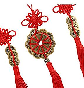 Buy BeautyMood 5 pcs Chinese Red Enless Knot Feng Shui Coins