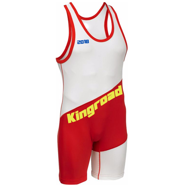 Cheap sublimated men pro youth low cut custom quick dry workout wrestling singlet