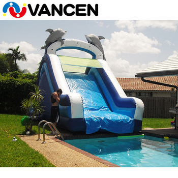 2017 Guangzhou Top Quality Factory Price Commercial PVC Kids Dolphin Cheap  Inflatable Used Swimming Pool Water