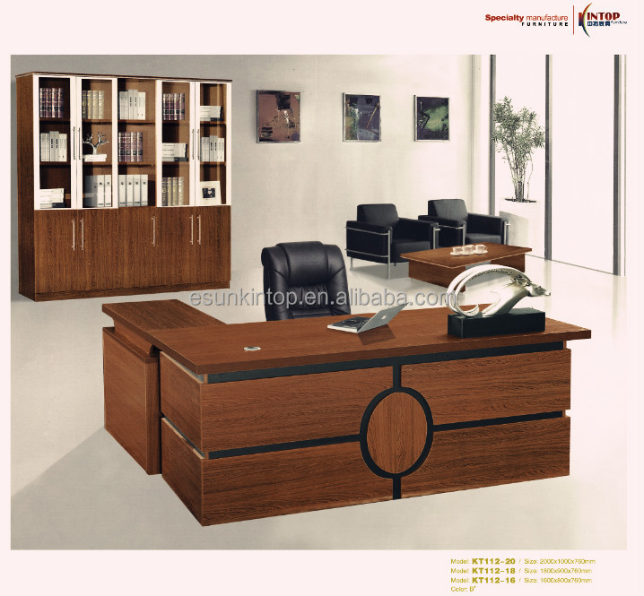 Office table design wooden office table design modern for Table design for office