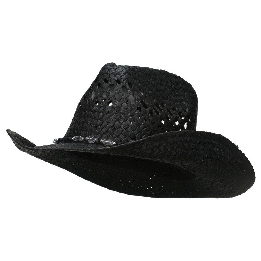 eff97c6351c Get Quotations · MG Womens Straw Outback Toyo Cowboy Hat