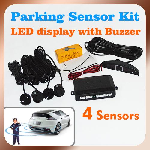 Бесплатная доставка автомобилей парковочная система с 4 датчиками 22 мм + из светодиодов + звуковой сигнал, Hd-автопарк датчика радиолокационной системы