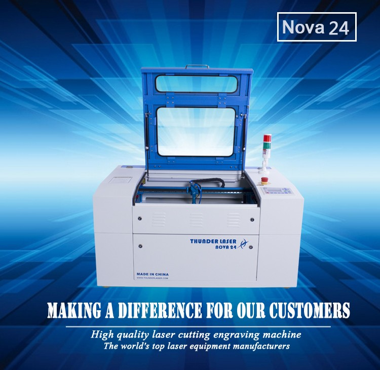 Thunder laser 40w leather label co2 mini craft laser cutting machine