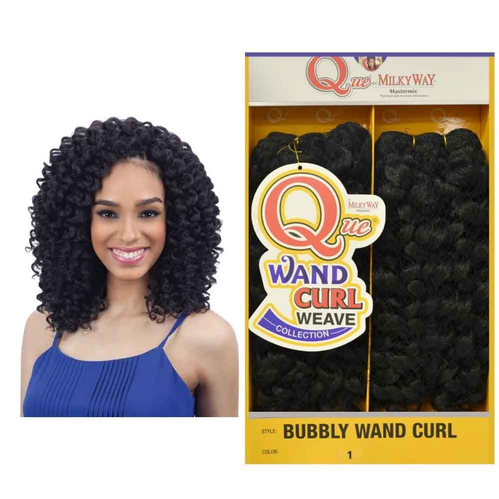 Buy Milkyway Bubbly Wand Curl Que Human Hair Blend Weaving Hair 1