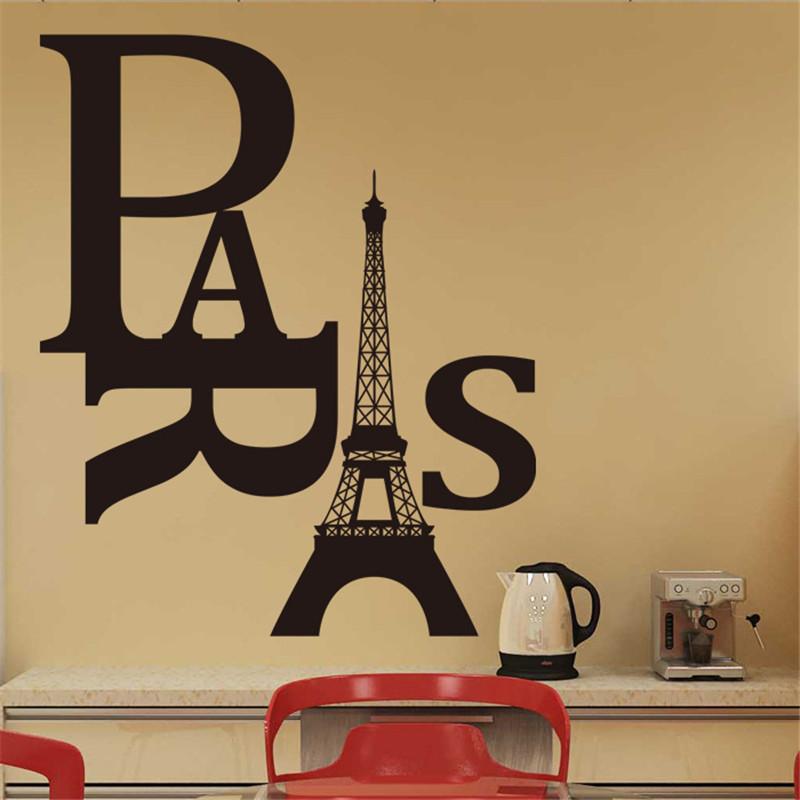 Eiffel Tower Wallpaper Vintage Bedroom Adesivos Parede ...  Eiffel Tower Wa...