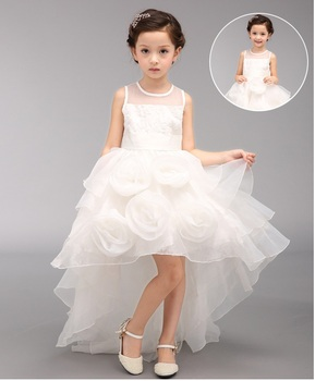 63d3b8d22 2017 hot sale baby frock designs girls fancy party dress with long tail  dresses for princess