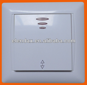 Europe Style Flush Mounted 1 Gang 2 Way Switch With Indicator f6105