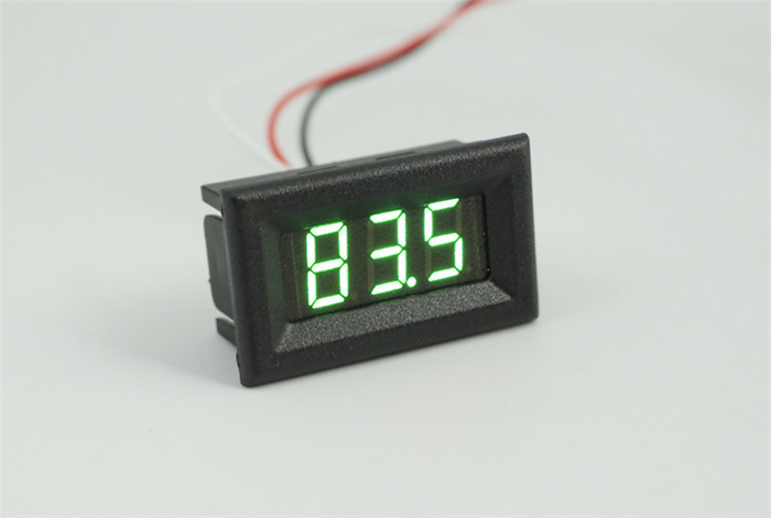 V38D DC three wire Digital Voltmeter Voltage Panel Meter 0-100V 100V 0.36 inch Red Blue Green LED