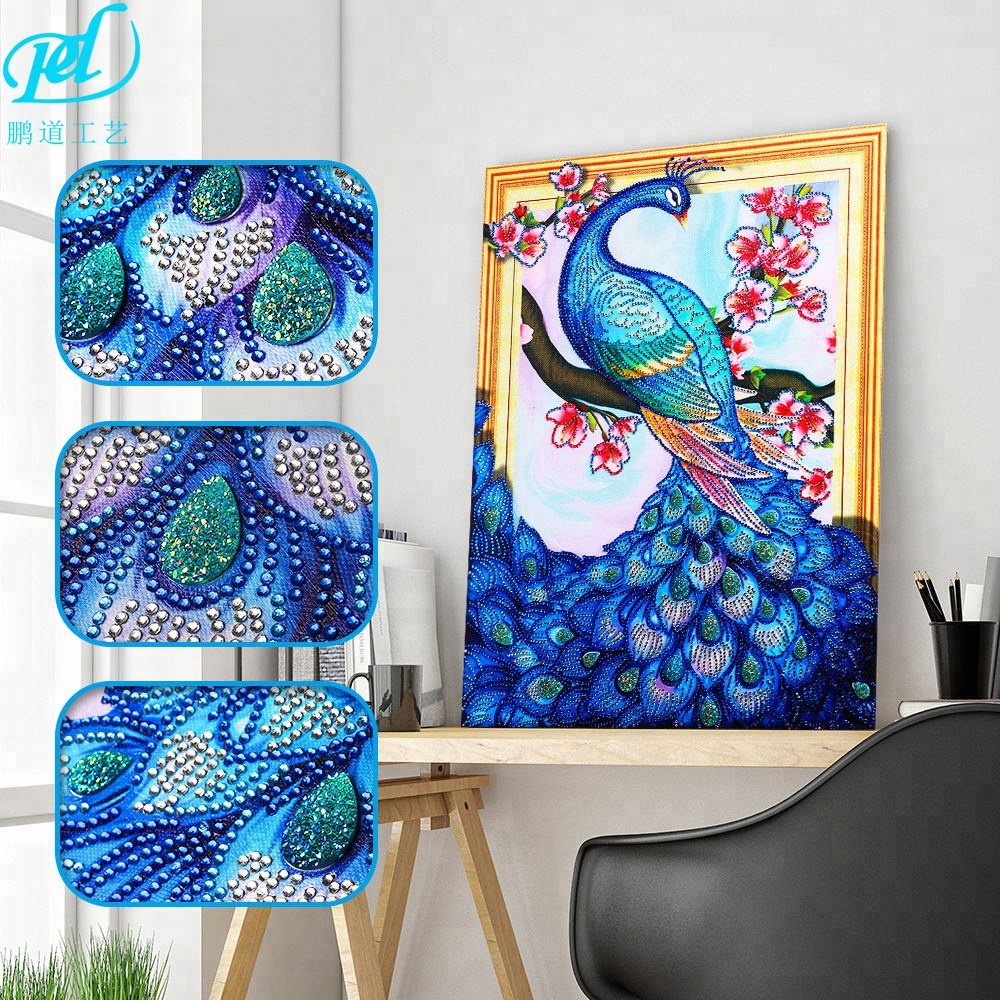 5d diy em forma de diamante pintura pavão strass 3d diamante bordar mosaico animal home decor 40x50 cm