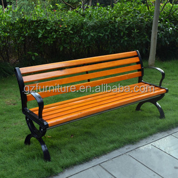 Oem High Quality Standard Size Of Cast Iron And Wood Garden Bench