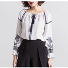 Customized ladies ethnic design cotton women clothing tops blouses