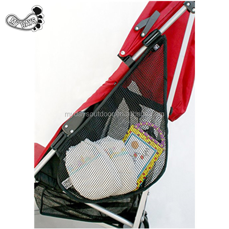 Multi-functional Attachable Side Sling Stroller Cargo Net Organizer Adds cargo space to strollers with 2 adjustable strap