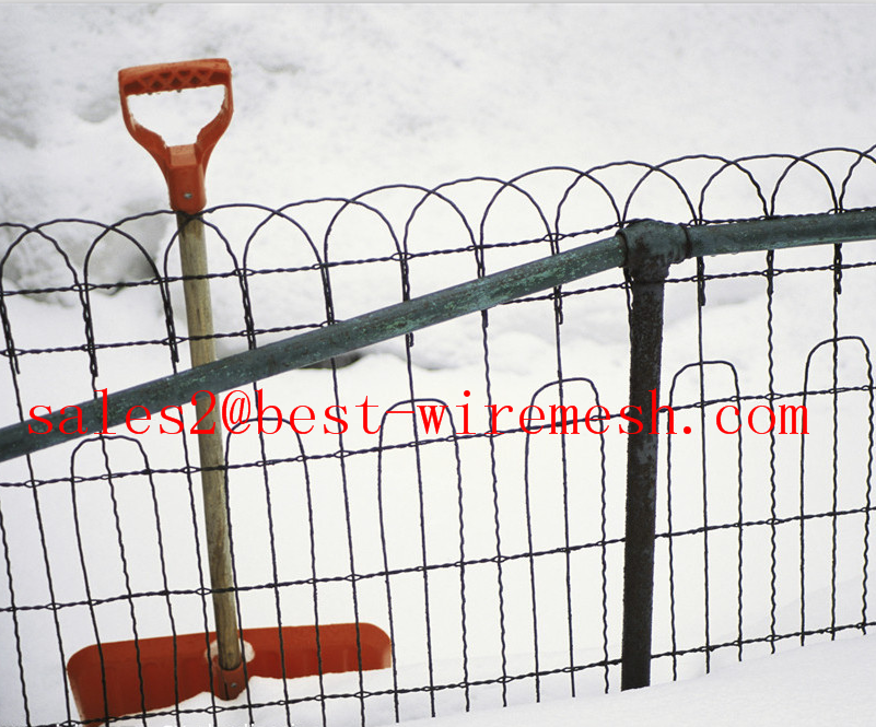 Ornamental Loop Fence /decorative Woven Wire Fencing - Buy Double ...