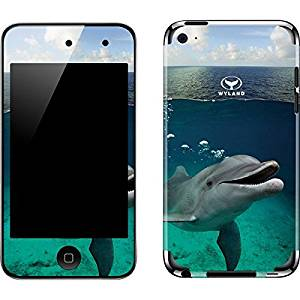 Animal Illustration iPod Touch (4th Gen) Skin - Smiling Dolphin Vinyl Decal Skin For Your iPod Touch (4th Gen)
