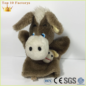 Stupid stuffed 3D wholesaler factory promotion a donkey hand puppet