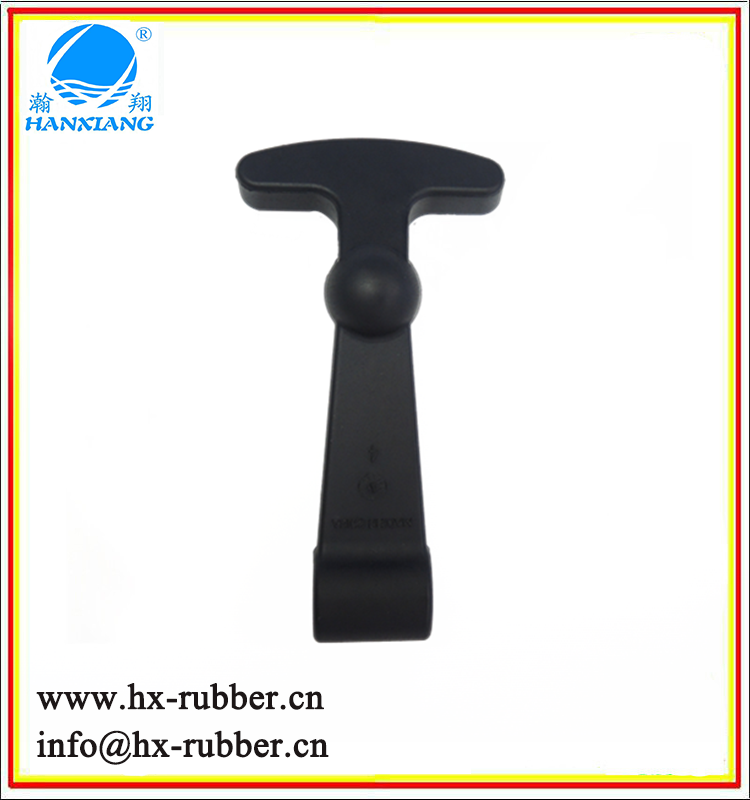 Chinese made high quality rubber door latch/T shape Rubber latch/rubber handle latch