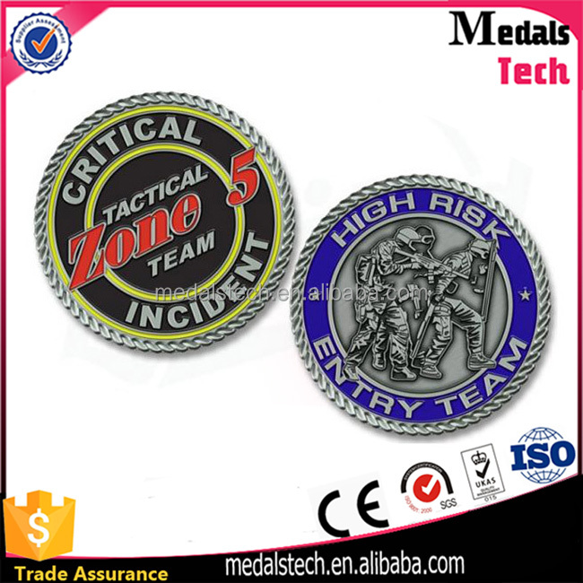 3d Antique Raised Logo Sport Metal Custom Unique Coins with Your Logo