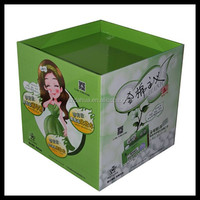 1/4 pallet display for makeup cotton/Supermarket Promotional Cardboard Pallet Display Rack