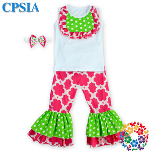 High Quality kid clothes little girls boutique remake clothing sets clothing for children