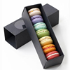 Black Luxury Drawer Paper Packaging Macaron Gift Box with window
