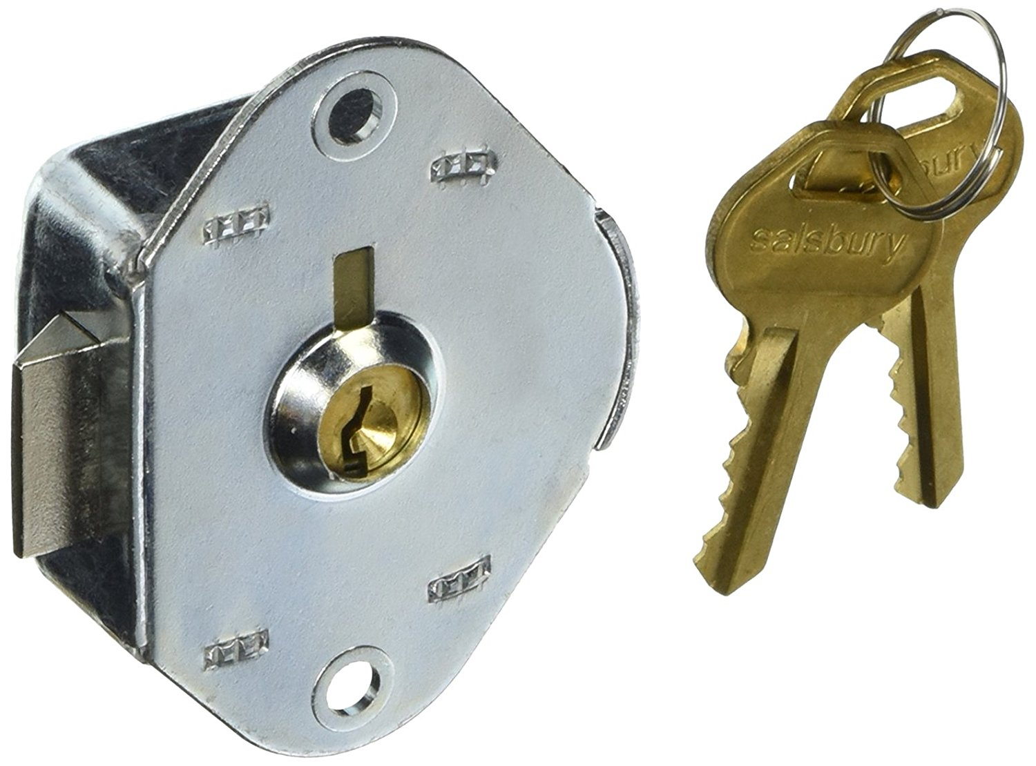 Salsbury Industries 8115 Built In Replacement Lock for Heavy Duty Storage Cabinet Door with 2 Keys