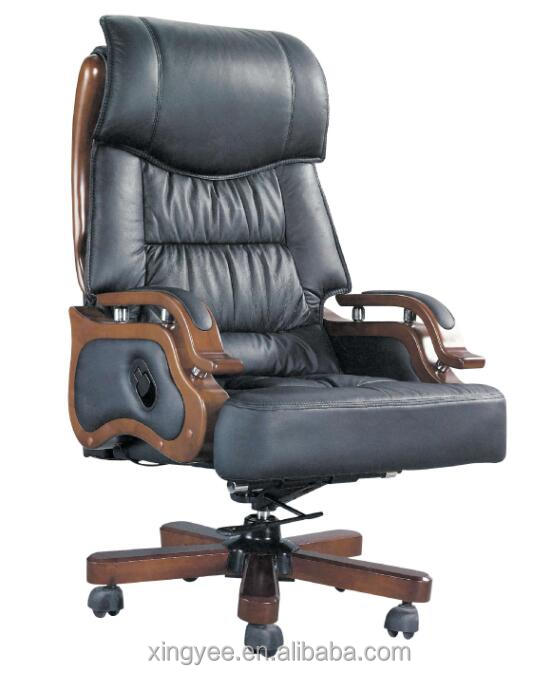 High Back Wooden Arm Boss Chair Elegant Office Chair   Buy Boss Office Chair ,Boss Revolving Chair,Executive Office Chairs Product On Alibaba.com