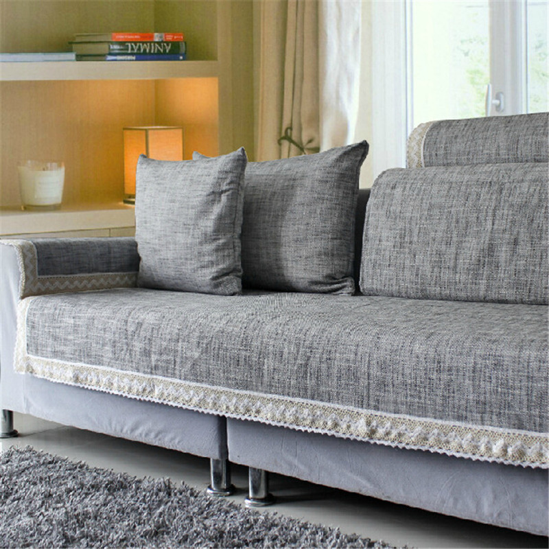 Cotton Fabric Sofa Towel Combination Kit Solid Sofa