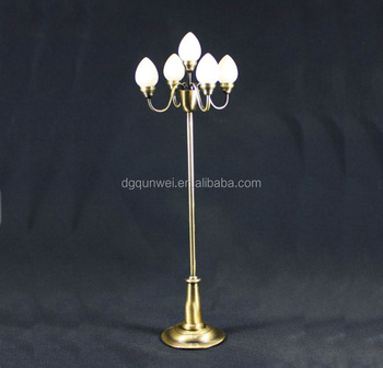 1 12 Miniature Led Lights Dollhouse Floor Lamp Kids Toys Flower Post Qw25028 Decorative Stand Street
