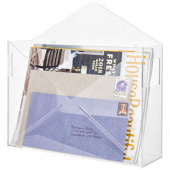 high quality clear wall mail/magazine holder
