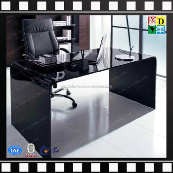 Beau Luxury Custom Design Acrylic Office Desk New Arrival Top Quality Acrylic  Office Furniture Latest Fancy Black