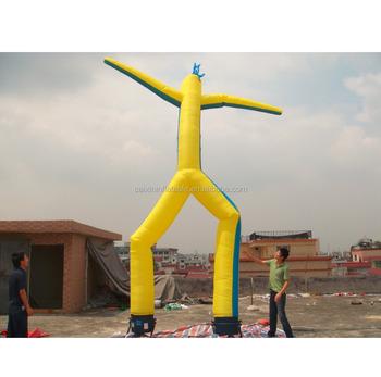 Double Leg Inflatable Yellow Sky Air Dancer Dancing Man