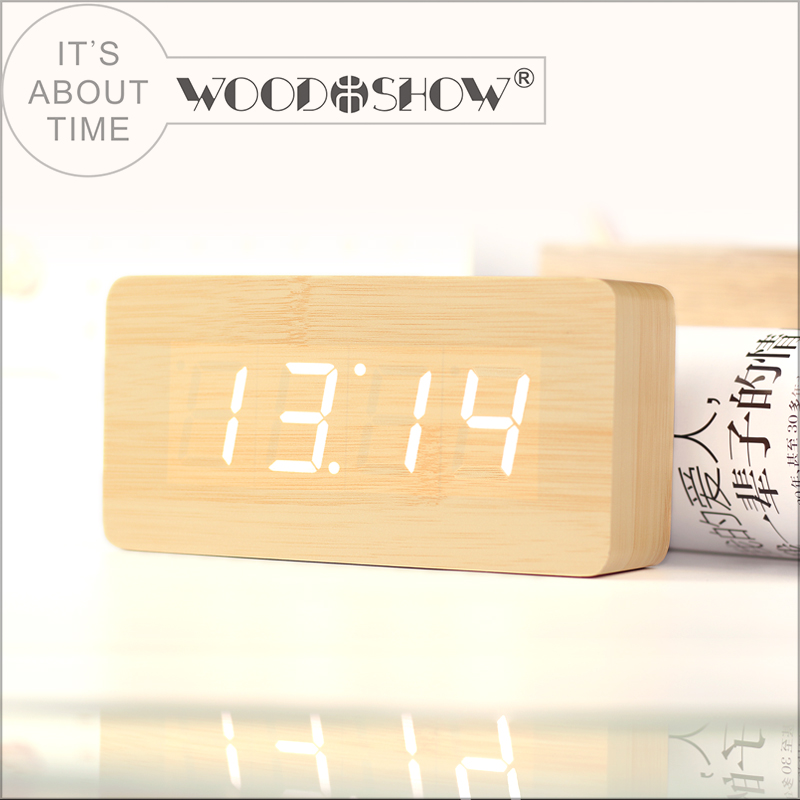 Morning call wooden desk radio alarm clock with CE