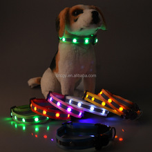 Safety Walking Non Toxic Pet Products High Quality Durable Dog Collars, Glow Flash, Sizes, Small Medium Large LED Collar