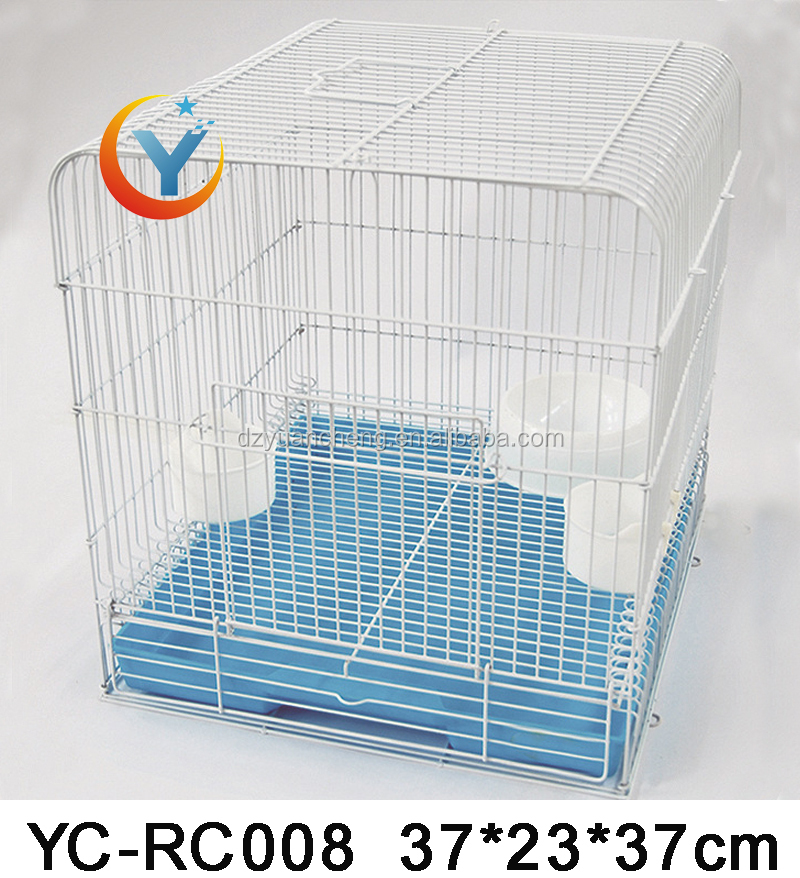 metal wire rabbit cage/ cheap rabbit cages / bunny hutch pet products small cage for dogs,cats, rabbits for sale