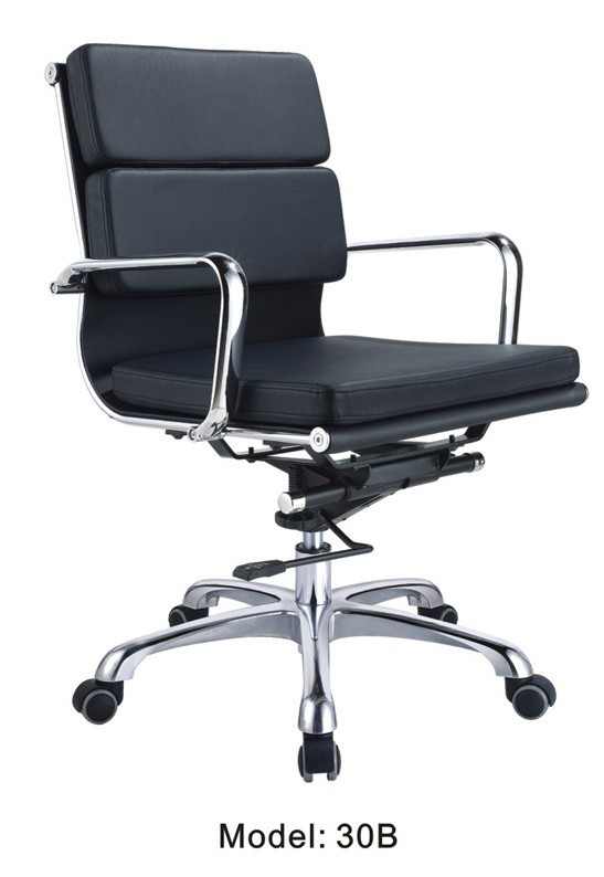 Middle back office furniture chair / Chrome office PU chair / Cheap furniture swivel chair