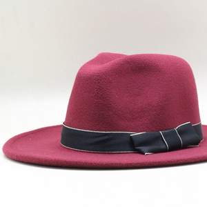 3cc7e428f9707 Fashion unisex custom color wool felt hat panama fedora hat trilby hat