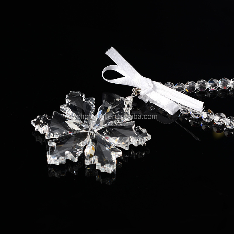 MH-DS0254 Clear Crystal Snowflake Christmas Ornament